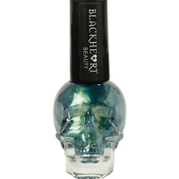 Blackheart Beauty Green Yellow Shimmer Nail Polish