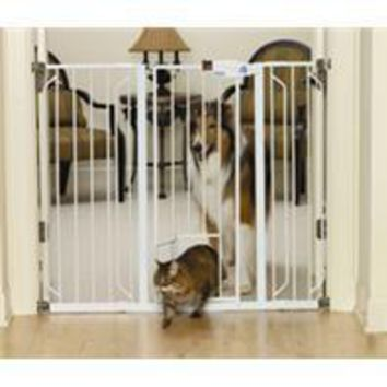 Carlson Pet Products - Extra Tall Walk-thru Pet Gate With Pet Door