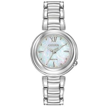 Citizen Eco-Drive L Sunrise Watch - Stainless Steel - Blue MOP