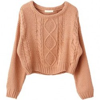 Vintage Hemp Knitted Pullovers with Short Cut