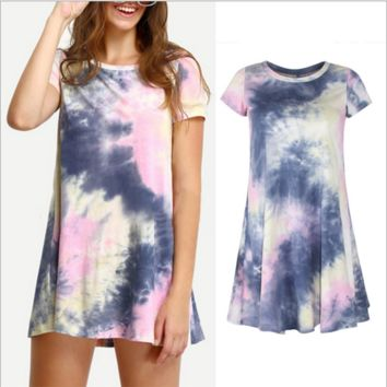 Tie Dye Cotton Dress B0014340