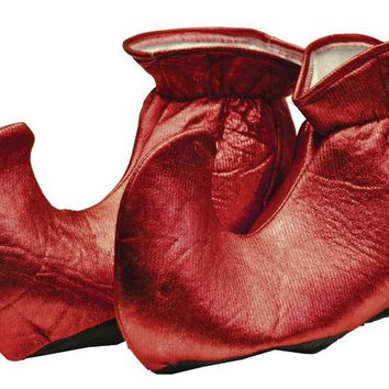 Elf Shoes Cloth Red for Christmas Party