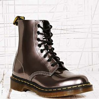 Dr. Martens Pascal 8 Eyelet Boots in Silver at Urban Outfitters