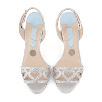 Arianna Chop Out Sandals With Swarovski Hearts