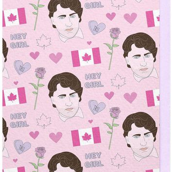 Hey Girl Justin Trudeau Card