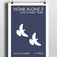 Home Alone 2 movie poster print 16.5 11.7in
