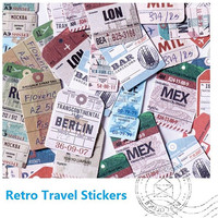 travel planner sticker Travelling the world Sticker travel handbook travel journey deco sticker label world Stamp country sign sticker gift