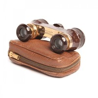 1940s Vintage Mini Binoculars with Case