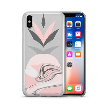 Marble Pineapple Head - Clear Case Cover Phone Case