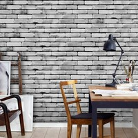 1pc 20cm*500 cm Self Adhesive Tile Art PVC Wall Decal DIY Wall Sticker Brick Stone Wall Decals Stickers Home Living Room Decor