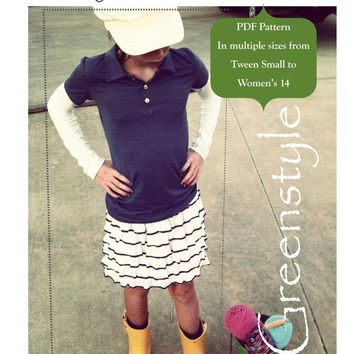 Study Hall Shirt and Dress PDF Pattern for Tween S to Women's 12