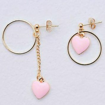 Circle Heart Earrings
