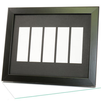 White Photo Booth Frame - Holds 5- 2x6 Photo Strips with Mat to Display, Cherish and Preserve your Wedding Memories, Bridesmaids & Grooms
