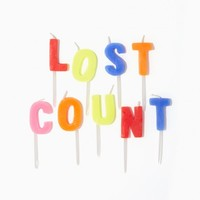 Lost Count Candles Pack | Charming Charlie