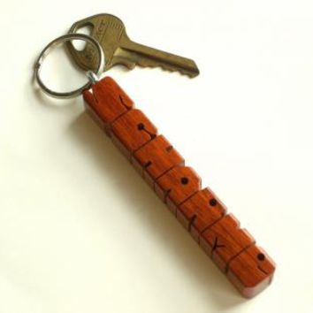Wood Name Keychain Paduak by DustyNewtKeychains on Zibbet