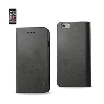 New Flip Folio Case With Card Holder In Gray For iPhone 6 Plus By Reiko
