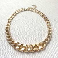 Chunky Gold Curb Chain Necklace N156-SM