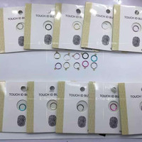 Vary colors For iPhone 5S 6 6g 6s Plus Touch ID Button Home Button Sticker  Sensor Finger Identification Sticker ; 50pcs/lot
