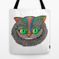 Alice´s cheshire cat by Luna Portnoi Tote Bag by Luna Portnoi | Society6