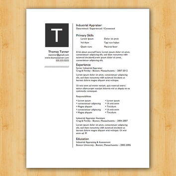 Easy to Edit Resume Template - The Tanner Design - Helping You Save Time & Get The Dream Job You Deserve - Instant Download