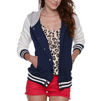 LA Hearts Hooded Varsity Jacket at PacSun.com