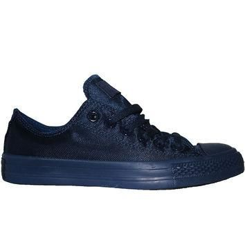 Converse All Star Chuck Taylor Nylon Mono Lo - Midnight Low Top Sneaker