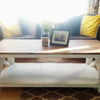 Rustic X Style Coffee Table