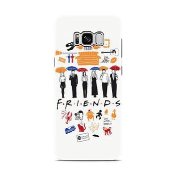 FRIENDS Collage Drawing Samsung Galaxy S8   Galaxy S8 Plus Case