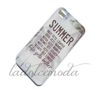 cute SUMMER quote IPHONE case iPhone 4 iPhone 5 summer 2013 trendy hot seniors