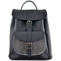 GRAFEA CHECKERBOARD PONY SKIN LEATHER BACKPACK - BLACK