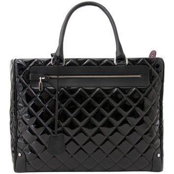 Chanel Vinyl Quilted Calfskin Travel Tote