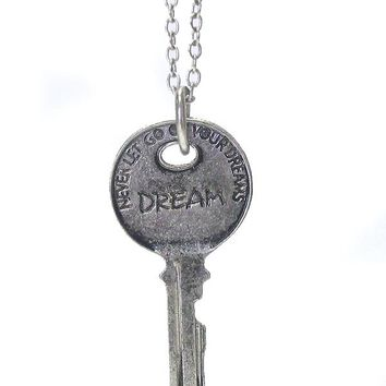 Vintage Key Pendant Necklace - Dream