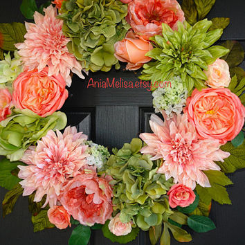 spring wreath Easter wreaths wedding wreaths for front door wreaths wedding bouquet veil tulle decorations outdoor wreaths