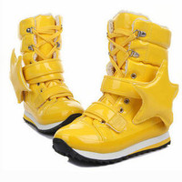 YESSTYLE: Smoothie: Star-Accent Patent High-Top Sneakers