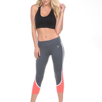 ANCHORA Active Leggings - Grey/Orange