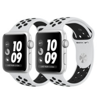Apple Watch Nike+ GPS, 38mm Silver Aluminum Case with Pure Platinum/Black Nike Sport Band