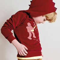 Billybandit Boys Fleece Sweatshirt with Dino Hood - V25060