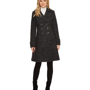 Ivanka Trump Boucle Double Breasted Fit and Flare Coat