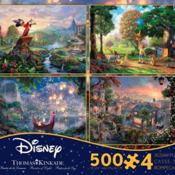 Ceaco Thomas Kinkade Disney Dreams Collection - 4 in 1 Multipack