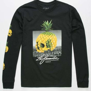 LA FAMILIA Pineapple Skull Mens T-Shirt