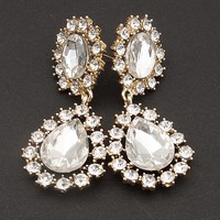 Jewelry & Accessories Facet Fascination Jeweled Drop Earrings - Gold