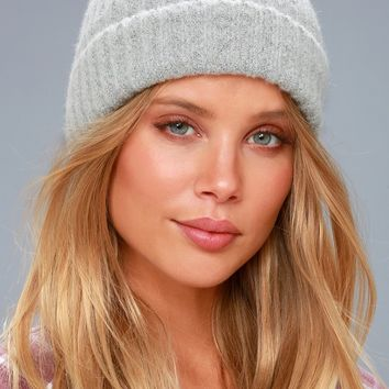 Olympus Heather Grey Knit Beanie