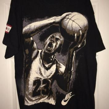 Sale!! Vintage Nike MICHAEL JORDAN casual T shirt NBA Basketball Tee Made in Usa