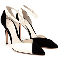 Gianvito Rossi Suede And Patent Leather Pumps