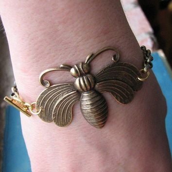 golden bee bracelet
