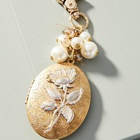 Pearly Locket Keychain