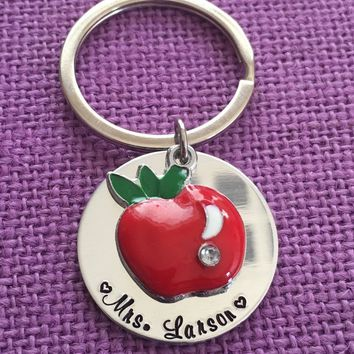 Personalized Teacher Keychain - Teacher Gift - Teacher Appreciation - So much of me is made from you - Personalized Keychain Teacher