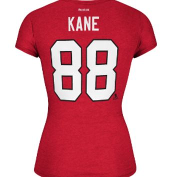 Women's Chicago Blackhawks Patrick Kane Cap Sleeve Player Tee