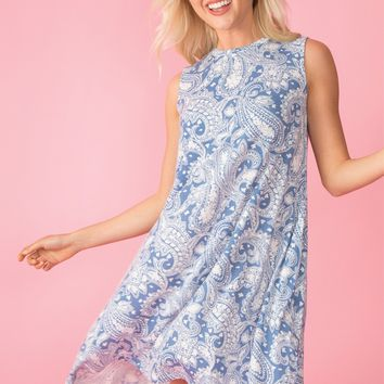 Square Dance Paisley Dress