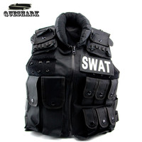 Mens Military Bulletproof Tactical Vest Molle Black Hiking Camping Vest Swat Army Training Combat Protective Equipment